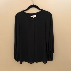 Loft - Black Blouse Size Medium.